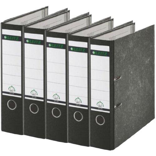 Preisvergleich Produktbild 5er Pack Leitz 1080 Qualitäts-Ordner breit, mit patentierter 180º-Präzisionsmechanik (schwarz)
