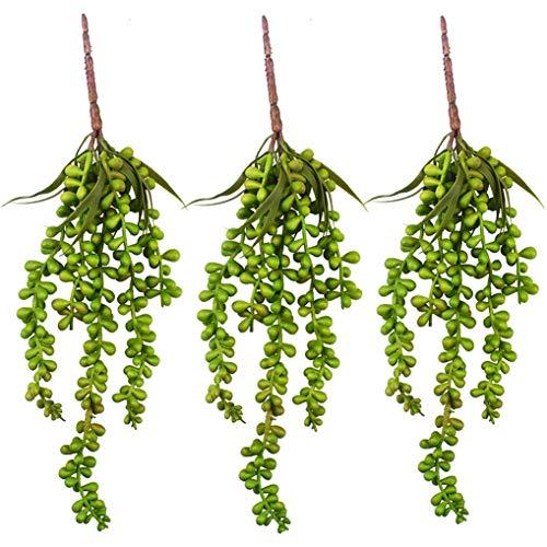 Plantas suculentas artificiales Cadena colgante falsa