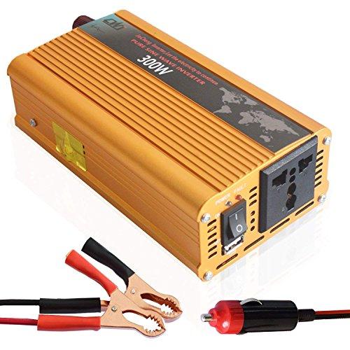 Tellunow 300W Wechselrichter 12 V DC Zu 220V 230V AC Konverter Reine Sinus-wechselrichter Mit Für Auto Reise - Konverter Für Reisen