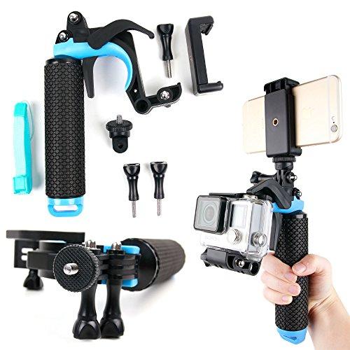 DURAGADGET-Soporte-Mango-flotante-con-gatillo-para-Cmara-deportiva-EasyPix-BlackHawk-4K-FullDome-360-Stage-MGCOOL-Explorer-2C-Pi-Solo-Xiaomi-Mijia-Rollei-Actioncam-510-525-530-Seguro-Sports-y-smartpho