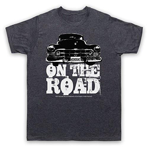 Jack Kerouac On The Road Car Herren T-Shirt Jahrgang Schiefer