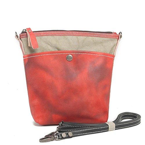 Europa e negli Stati Uniti gli uomini e le donne borsa di tela Europa e la retro borsa zaino borsa Messenger Stati Uniti , orange Red