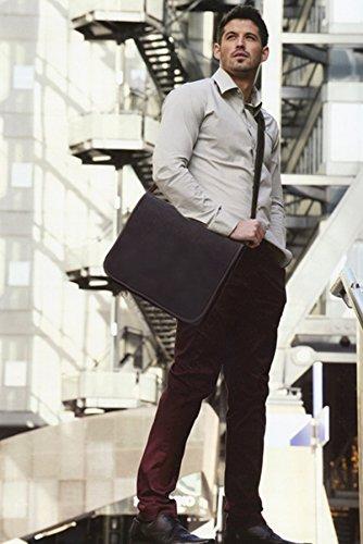 Visconti - Borsa Messenger in pelle A4 Notebook/ipad - 18548 - Unisex adulto Marrone scuro