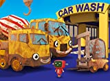 Cleaning Muddy Construction Trucks in the Car Wash with Gecko's Garage