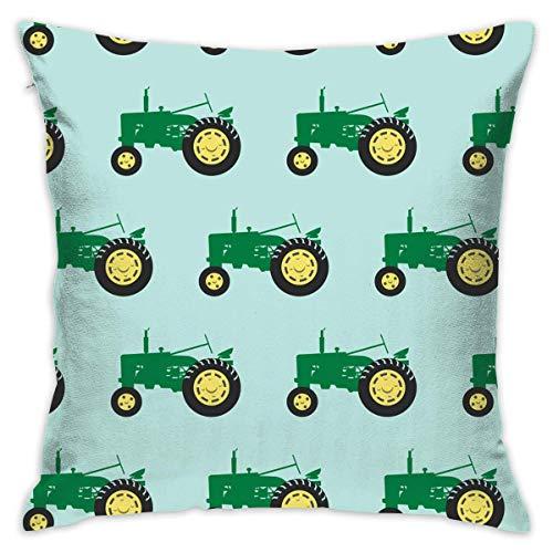 FPDecor Funda de Almohada, Soft Polyester Green Tractor Throw Pillow Cases Decorative Family Indoor...