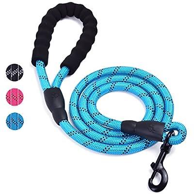 u-picks Seil Hundeleine mit weich gepolsterte Griff und hohe Reflektierende Fäden, 5ft widerstandsfähiges Seil Twist Blei in starke Ziehen unterstützt alle Größe Hunde