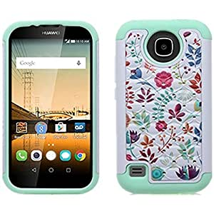 Huawei Union Phone Case , [ Storm Buy ] Hard & Soft Sturdy Hybrid Gel Rhinestone Bling Diamond Armor Defender [ Anti Scratch ] Case Cover (Spot Green)