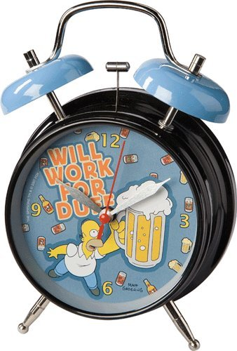 Los Simpson Despertador con Sonido de Alarma Will Work fot Duff United Labels