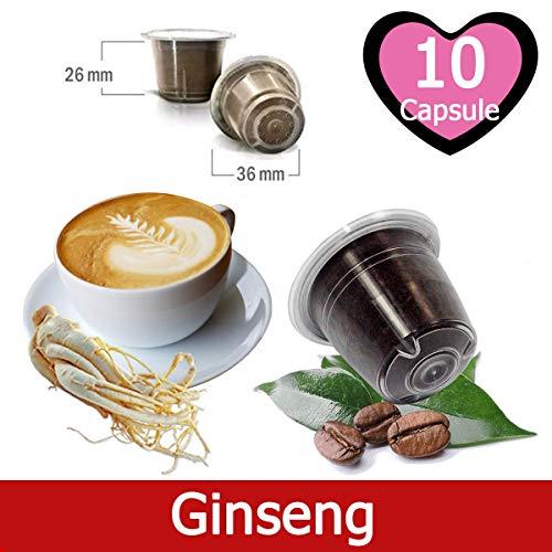 10 Kapseln Nespresso Kaffee Kompatibel Ginseng Kaffee - Hergestellt in Italien - Kickkick Kaffee