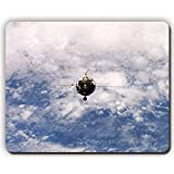 high quality mouse pad,cosmodrome launch pad night rocket,Game Office MousePad size:260x210x3mm(10.2x 8.2inch)