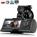 LUJII 2.7 inch screen Dual Camera 5MP Car Blackbox DVR with GPS Logger and G-Sensor X3000- New Version ¡