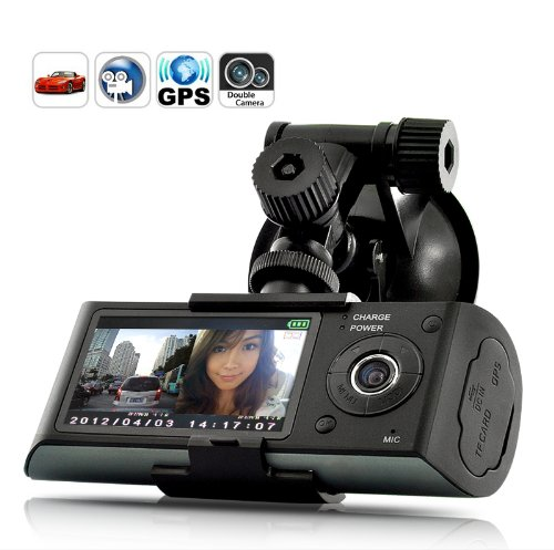 2.7 inch Screen Dual Camera 5 MP Car Black