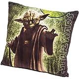 Star Wars - Yoda cojín de terciopelo, de 40x40 cm - Cojín Star Wars Yoda (40x40cm)