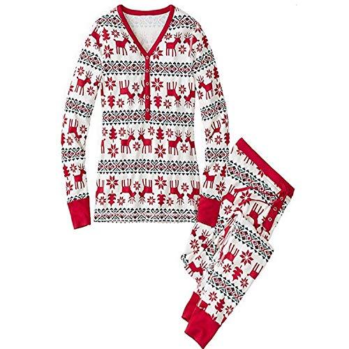 GAOQQ Ropa Familiar De Otoño E Invierno, Servicio A Domicilio De Navidad Y Niños, Pijamas para Madres E Hijas,Mom-L