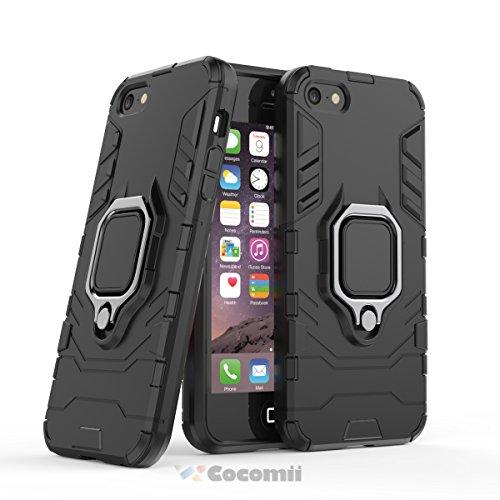 d67f0fcd1ef Cocomii Black Panther Armor iPhone SE/5S/5 Funda [Robusto] Táctico Anillo
