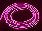 Bada Bing LED Neonlicht Schlauch Lichtschlauch Doppelseitig Lichterkette Lichtband Pink Neon Neonschlauch Neonband Ohne Lichtpunkt Durchgängig Leuchtend IP44 Neuheit Trend 83