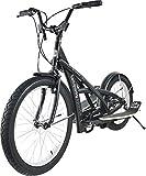 TE-Sports Fitness Wipprad Wipp Scooter Stepperbike Crosstrainer Fahrrad Bike 7-Gang Shimano Grip Shift Schaltung Schwarz