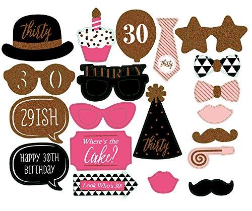 20PCS Funny Foto Party Booth DIY Kit für Hochzeit, Geburtstag, evetns & Funktionen von Schnitt Shop (Walmart Halloween Masken)