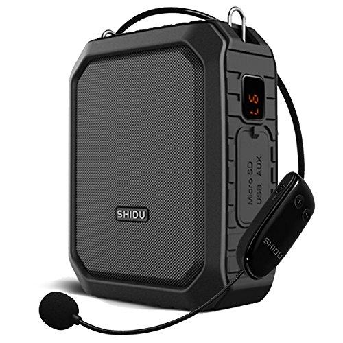 SHIDU Portatil Amplificador voz 18 vatios bateria