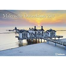 Malerische Ostseeküste 2017 - Meereskalender, Deutschlandkalender, Strandkalender, Landschaftskalender 2017, Ostseekalender 2017 - 29,7 x 42 cm