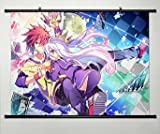 Kein Spiel Nr. Life Sora/Shiro Wall Scroll Poster, japanische Anime Cosplay 60 x 45 cm - 7 057
