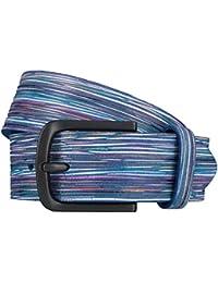 ALBERTO ceinture en cuir ceinture hommes bleu