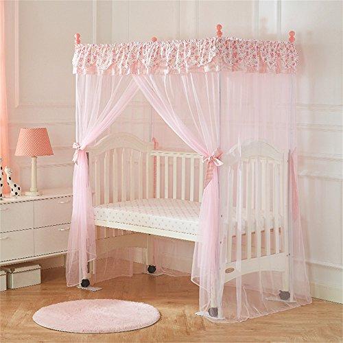 Shopping-Moderne minimalistische Mode kreative Baby Kinderbett Krippe Boden Quadrat Top Mosquito Net mit Halterung klassischen romantischen Schlafzimmer ( Farbe : #1 ) (Krippe Net Top)