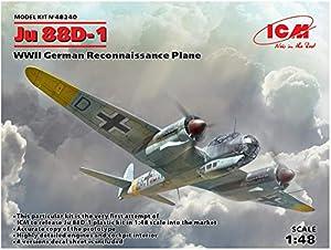 ICM 48240 Ju 88D-1,WWII German ReconnaissancePlane - Maqueta de avión, Color Gris