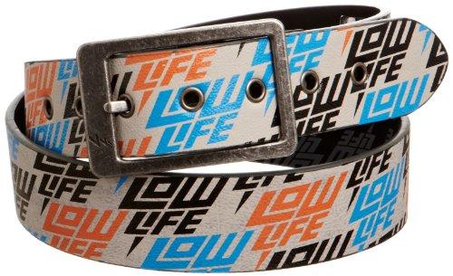 Lowlife Herren Gürtel - Weiß - Dirty White - Medium (Print Reversible Belt)