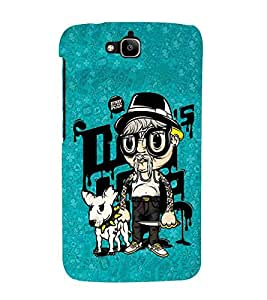 For Huawei Honor Holly 2 Plus :: Huawei Honor 2 Plus hello ( hello, sunglass, green background, good quotes ) Printed Designer Back Case Cover By TAKKLOO