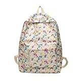 Mode Reise Unicorn Cartoon Print Rucksack