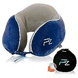 FlowZoom Duo Reisekissen - Das einzige Nackenkissen mit Memory-Foam und einem aufblasbarem Unterkissen - aufblasbar mit nur einem Atemzug - ideal für Flugzeug-Reisen