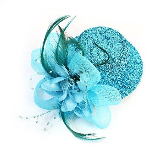 sourcingmapr-pinza-de-mini-sombrero-para-boda-o-fiesta-con-imitacion-de-perlas-flor-pluma-cielo-azul