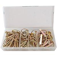 CCLIFE 50pieza surtido pasadores de anilla 4,5-6-8-11mm Pasadores partidos cuivrees Lynch-Pins