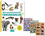 Ars-Edition großes Buch der Tiergeräusche Gebundene Ausgabe + 1 Bogen KIndersticker gratis