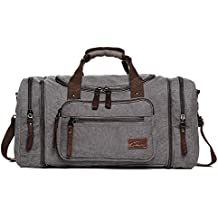 Fresion Große Leinwand Reisetasche Tote Handtasche Männer Weekender Duffle Bag Daypacks für Frauen & Männer mit 44L