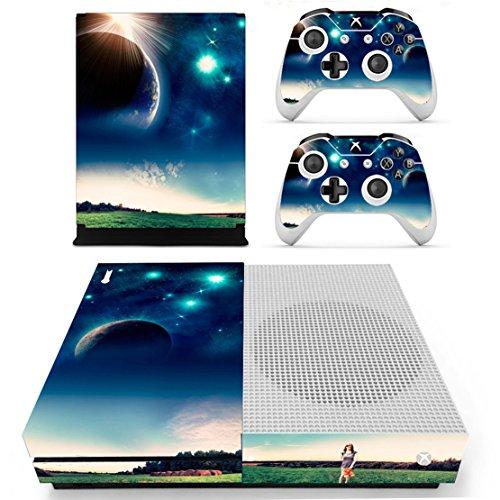 Stillshine Xbox One S Vinly Skin Protective Sticker Consola & 2 mandos Decal & cámara Kinect 2.0 Pegatinas (Blue Earth)