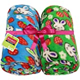 Brandonn Rabbit Printed Blue And Green Wrapping Sheet Cum Baby Blanket For Babies( 75 Cm X 98 Cm; 0-2 YEAR)