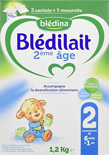 Blédilait - Lait bébé 2ème Âge - Bag In Box 1,2 kg - Pack de 3,BLEDINA,