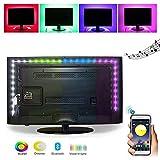 ELINKUME USB Kit de rétroéclairage TV, 2M/6.56ft RVB Bande LED avec contrôle...