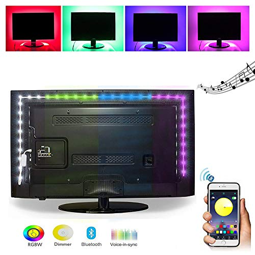 ELINKUME USB TV Hintergrundbeleuchtungs Kit, 2M RGB LED Streifen mit Drahtloser Bluetooth APP Steuerung, Geeignet für HDTV/PC Monitor/Heimkino