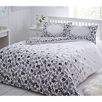 pieridae scattered grey floral duvet cover u0026 pillowcase set bedding quilt single double king multi floral