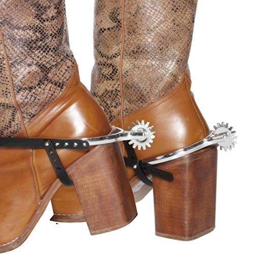NET TOYS Western Sporen Stiefelsporen Silber Cowboy Sporen Cowboysporen Cowboy Kostüm Zubehör Spurs