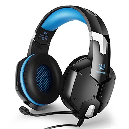 EasySMX Headset für PS4PC Handys Stereoanlage Gaming Headse, auch für Laptop Handys Tablets, verstellbares Mikrofon mit Lautstärkeregler und Stummschalt-Taste