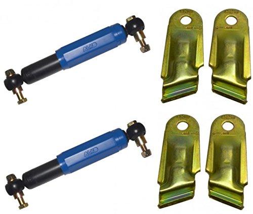 2 x AL-KO Octagon Achsstoßdämpfer Stoßdämpfer BLAU + 2 Halter