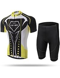 Chaqueta de manga corta de bicicleta de ciclismo para hombre de verano Xintown Cómodo respirable transpirable camisas secas Tops 3D amortiguador relleno de pantalones cortos pantalones Pantalones deportivos Escort ( Size : M )