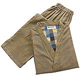 Männer japanischen Stil Robes Baumwolle Kimono Pyjamas Anzug Dressing Kleid Set-#322