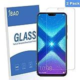 JBAO Huawei Honor 8X Protection D'écran, Films de Protections en Verre Trempé, Anti-Rayures, Anti-Traces de Doigts, Anti-Huile, sans Bulles pour Huawei Honor 8X [Lot de 2]