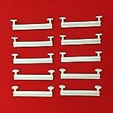 Easy-Shadow - 50 Stück Schlaufengleiter für 50 mm 50mm Schlaufen ohne Schlitz - Gleiter 5 cm 5cm Innenlauf für Schlaufenschals / Schlaufenvorhang passend für Gardinenschienen Gardinenstange Vorhangschienen Gardinenbretter Gardinen Laufschienen Deckenleiste - weiß