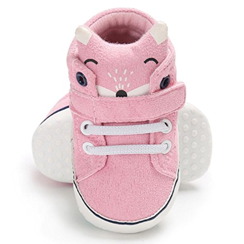 Hunpta Baby Girl Boys Fox High Cut Schuhe Sneaker Anti-Rutsch Soft Sole Kleinkind Rosa